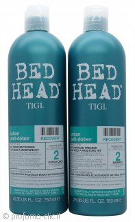 Tigi Duo Pack Bed Head Urban Antidotes Recovery 750ml Shampoo + 750ml Balsamo