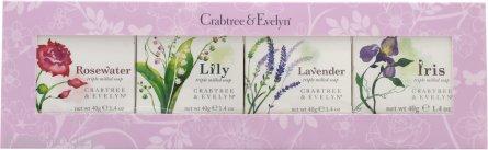 Crabtree & Evelyn Confezione Regalo 4 x 40g Saponi - Rosewater + Lily + Lavender + Iris