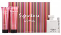 Creative Colours Signature Women Confezione Regalo 100ml EDT Spray + 120ml Gel Doccia + 120ml Lozione Corpo + 10ml EDT