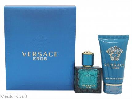 Versace Eros Confezione Regalo 30ml EDT Spray + 50ml Gel Doccia