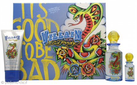Ed Hardy Villain Man Confezione Regalo 75ml EDT + 90ml Gel Doccia + 7.5ml EDT Mini