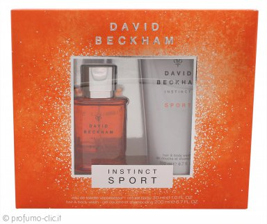 David Beckham Instinct Sport Confezione Regalo 30ml EDT + 200ml Hair & Body Wash