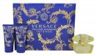 Versace Yellow Diamond Intense Confezione Regalo 50ml EDP + 50ml Lozione Corpo + 50ml Gel Doccia