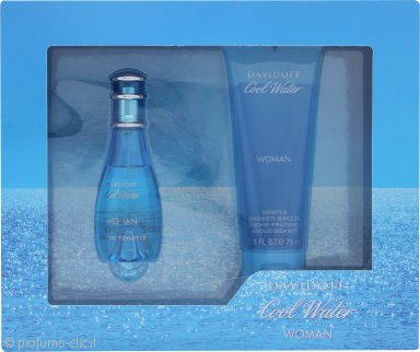 Davidoff Cool Water Woman Confezione Regalo 30ml EDT Spray + 75ml Gel Doccia