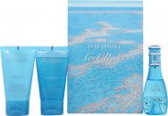 Davidoff Cool Water Woman Confezione Regalo 30ml EDT + 50ml Shower Breeze + 50ml Lozione Corpo