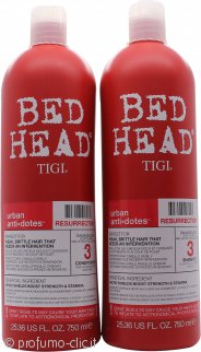 Tigi Duo Pack Bed Head Urban Antidotes Resurrection 750ml Shampoo + 750ml Balsamo