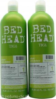 Tigi Duo Pack Bed Head Urban Antidotes Re-Energize 750ml Shampoo + 750ml Balsamo