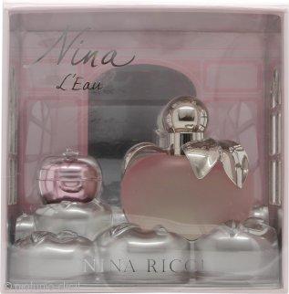 Nina Ricci Nina L'Eau Confezione Regalo 80ml Eau Fraiche Spray + 3.5g Balsamo Labbra