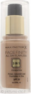 Max Factor Facefinity All Day Flawless 3 in 1 Fondotinta 30ml - SPF20 Natural 50