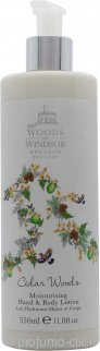 Woods of Windsor Cedar Woods Moisturising Lozione Mani & Corpo 350ml