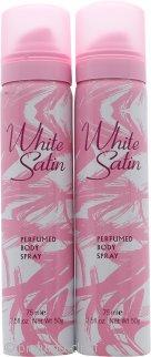 Taylor of London White Satin Body Spray 2 x 75ml