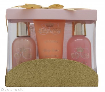 Style & Grace Utopia Mini Pamper Treats Confezione Regalo 100ml Crema da Bagno + 100ml Bagnoschiuma + 70ml Lozione Corpo