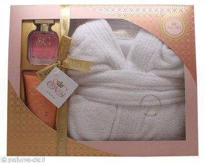 Style & Grace Utopia Extravagant Robe Set Confezione Regalo 50ml EDP + 150ml Lozione Corpo + Accappatoio (Taglia Unica)