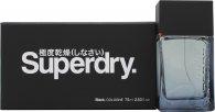 Superdry Black Eau de Cologne 75ml Spray