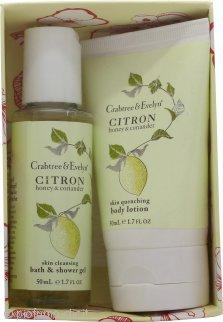 Crabtree & Evelyn Citron Honey & Coriander Confezione Regalo 50ml Lozione Cocpo + 50ml Bagnoschiuma & Gel Doccia
