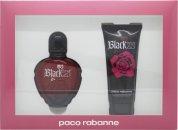 Paco Rabanne Black XS for Her Confezione Regalo 80ml Eau de Toilette + 100ml Lozione per il Corpo