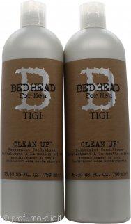 Tigi Duo Pack Bed Head For Men Clean Up 750ml Shampoo + 750ml Balsamo