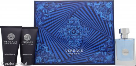 Versace Pour Homme Confezione Regalo 50ml EDT + 50ml Shampoo Profumato + 50ml Gel Doccia Profumato