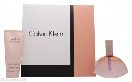 Calvin Klein Endless Euphoria Confezione Regalo 75ml EDP Spray + 100ml Lozione Corpo