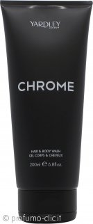 Yardley Chrome Hair & Body Wash 200ml