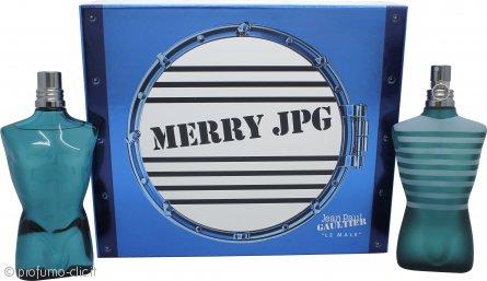 Jean Paul Gaultier Le Male Merry JPG Confezione Regalo 125ml EDT + 125ml Lozione Dopobarba