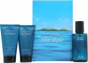 Davidoff Cool Water Confezione Regalo 40ml EDT + 50ml Gel Doccia + 50ml Balsamo Dopobarba