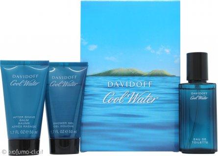 Davidoff Cool Water Confezione Regalo 40ml EDT + 50ml Gel Doccia + 50ml Balsamo Dopobarba