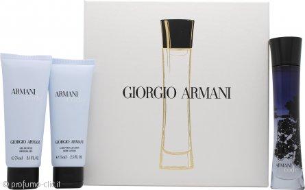Giorgio Armani Code Confezione Regalo 50ml EDP + 75ml Gel Doccia + 75ml Lozione per il Corpo