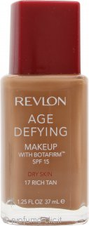 Revlon Age Defying Foundation 37ml Pelle Secca - 17 Rich Tan