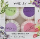 Yardley Luxury Soaps Collection Confezione Regalo 4 Saponi x 50g (Lavender + Lily Of The Valley + Rose + April Violets)