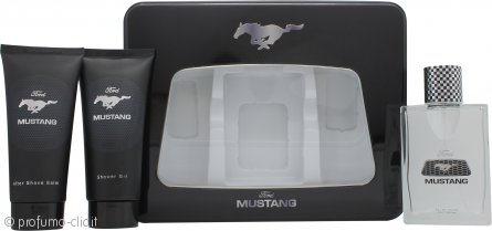 Mustang Confezione Regalo 100ml EDT + 150ml Balsamo Dopobarba + 150ml Gel Doccia