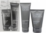 Clinique for Men Smooth and Improve Confezione Regalo 100ml Scrub Viso + 100ml Lozione Idratante