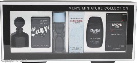 Miniature Various Confezione Regalo 5ml Guy Laroche Drakkar Noir EDT + 5ml Laura Biagiotti Tempore Uomo EDT + 5.3ml Liz Claiborne Curve for Him EDT
