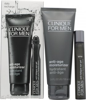 Clinique for Men Anti Age & Fatigue Confezione Regalo 100ml Idratante Anti-Etá + 15ml Gel Antistanchezza Contorno Occhi