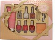 Style & Grace Utopia Perfect Mani-Care Confezione Regalo 100ml Crema Mani + 5 x 8ml Smalti + Matita Bianca per Unghie + Lima + Adesivi per Unghie