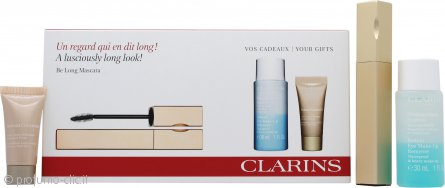 Clarins Be Long Confezione Regalo 7ml Be Long Mascara Nero + 30ml Struccante per Occhi + 5ml Correttore