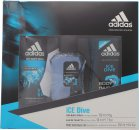Adidas Ice Dive Confezione Regalo 50ml EDT + 250ml Gel Doccia + 150ml Deodorant Body Spray