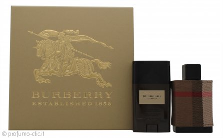 Burberry London Confezione Regalo 50ml EDT + 75g Deodorante Stick