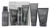 Clinique for Men A Better Shave Confezione Regalo 100ml Scrub Viso + 41ml Gel da Barba all'Aloe + 100ml Idratante Anti Etá