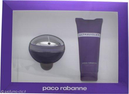 Paco Rabanne Ultraviolet Confezione Regalo 80ml EDP + 100ml Lozione Corpo