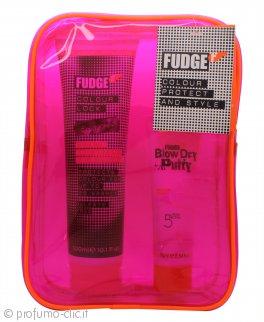 Fudge Colour Protect & Style Confezione Regalo 300ml Colour Lock Shampoo + 75ml Blow Dry Putty