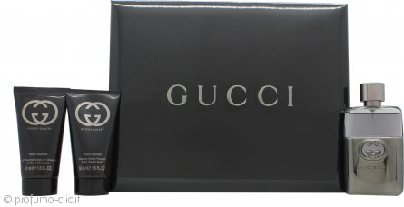 Gucci Guilty Pour Homme Confezione Regalo 50ml EDT + 50ml Balsamo Dopobarba + 50ml All Over Shampoo