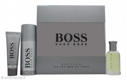 Hugo Boss Bottled Confezione Regalo 50ml EDT + 50ml Gel Doccia + 150ml Deodorante Spray