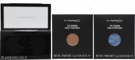 MAC Pro Palette Pro Colour Eyeshadow Set 2 x 1.3g Ricariche Ombretti - All That Glitters + Moons Reflection