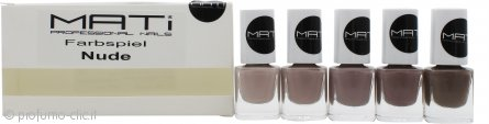 MATi Professional Nails Confezione Regalo Farbspiel Nude 5 x 5ml Smalti