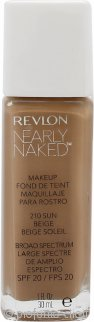 Revlon Nearly Naked Fondotinta 30ml Sun Beige - SPF20