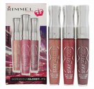 Rimmel Stay Glossy Trio Lucidalabbra Confezione Regalo Non Stop Glamour 120 + Stay My Rose 160 + My Eternity 260