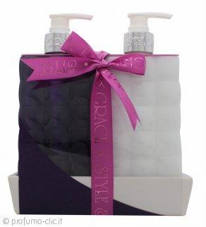 Style & Grace Bath & Body Twinset Confezione Regalo 500ml Bagnoschiuma + 500ml Lozione Corpo