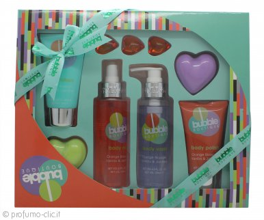 Style & Grace Bubble Boutique Bath & Body Blockbuster Confezione Regalo 120ml Bagnoschiuma + 100ml Lozione Corpo + 120ml Body Mist + 45g + 100ml Body Scrub + 3 x 5g Perle