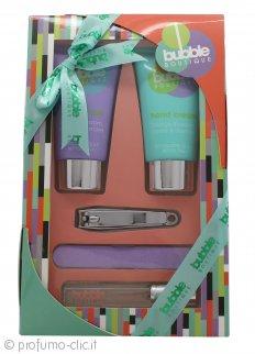Style & Grace Bubble Boutique Pamper Kit for Hands Confezione Regalo 100ml Detergente Mani + 100ml Crema Mani + 7ml EDP Roller Ball + Lima Unghie + Tagliaunghie